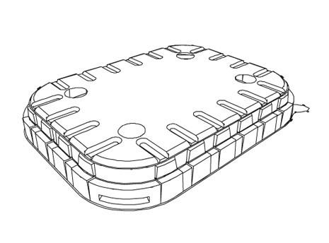Infia kansi K10-C H12 kansi läpinäkyvä 550kpl/laatikko