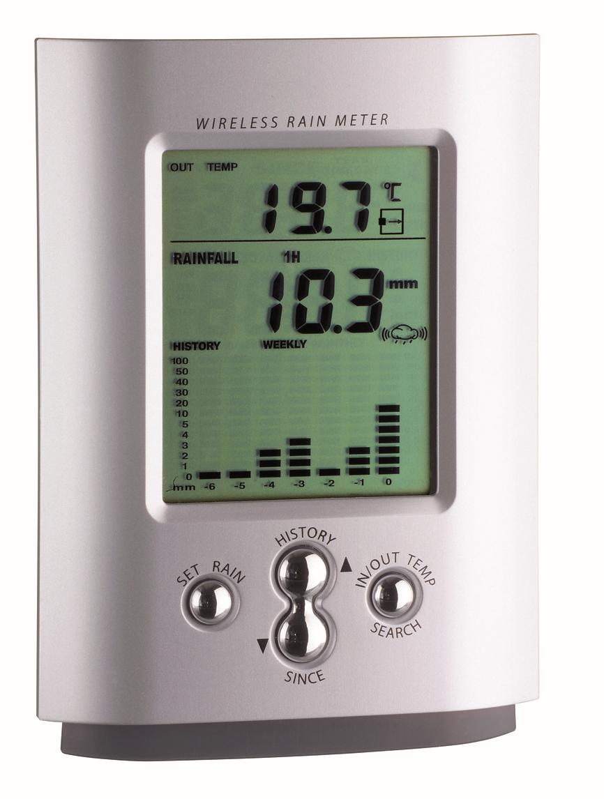 Sademittari / lämpömittari, langaton