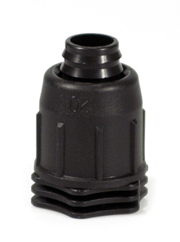 Päätetulppa 16mm Multibar, musta kierrettävä
