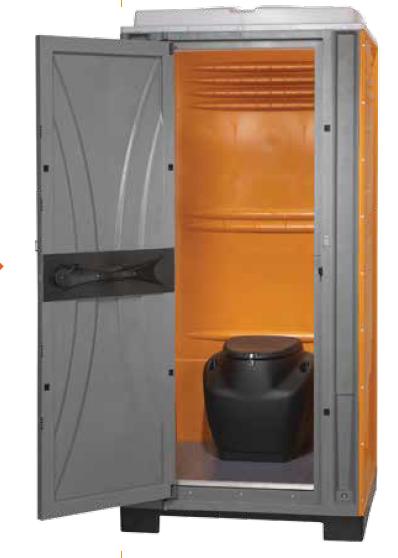 Armal kemiallinen WC irtosäiliöllä vihreä (vakioväri), osissa
