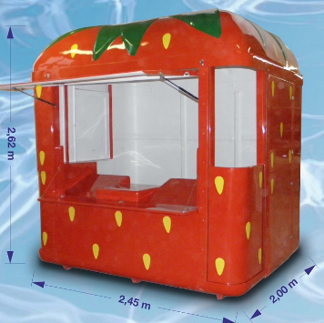 Kioski pieni l2,45 x s2,0 x k2,62 m, 250 kg