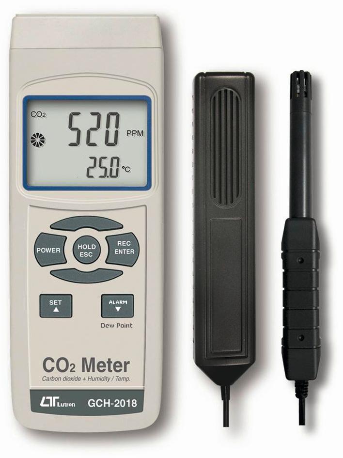 Hiilidioksidi CO2 / Ilmankosteusmittari, kannettava