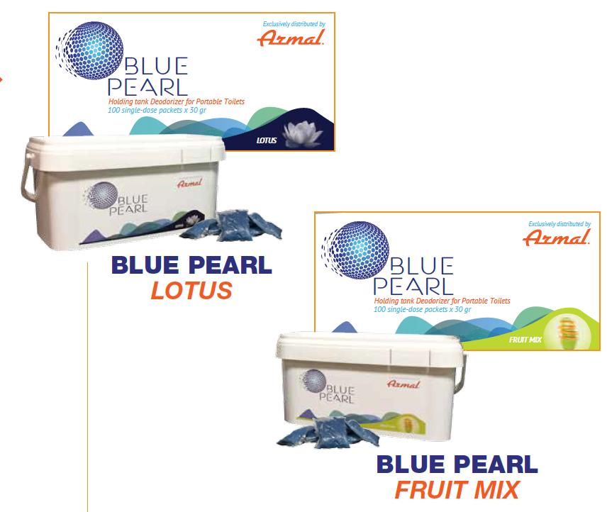 Armal Blue Pearl saniteettiaine annospusseissa, lotus