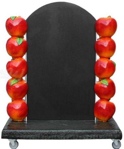 Mainosliitutaulu pyörillä 99 cm, omena