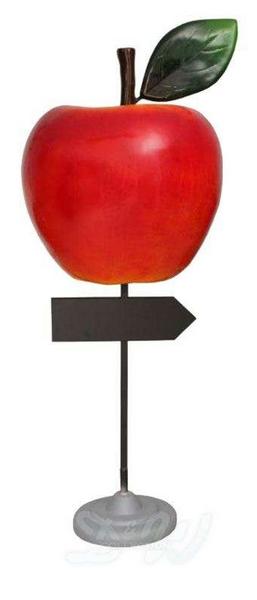Tienviitta - opaste tukevalla jalustalla, korkeus 160 cm, omena
