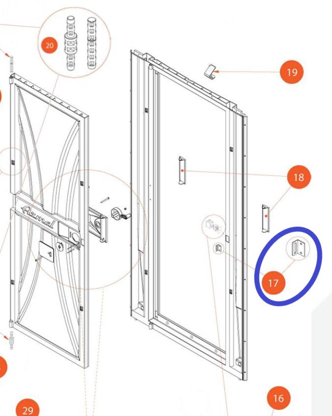 Metallilevy oven lukkomekanismiin, VARAOSA