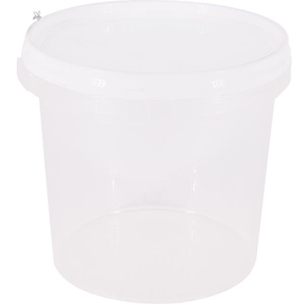 Muovipurkki hunajalle 450g, kannella 323kpl/ltk
