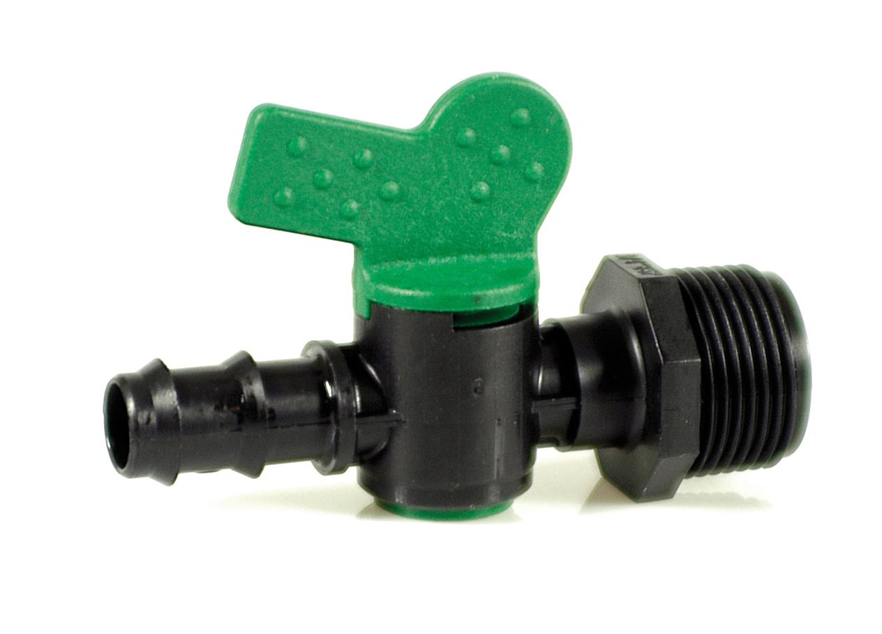"""Lähtöliitin 3/4""""venttiilillä Multibar 20mm"""
