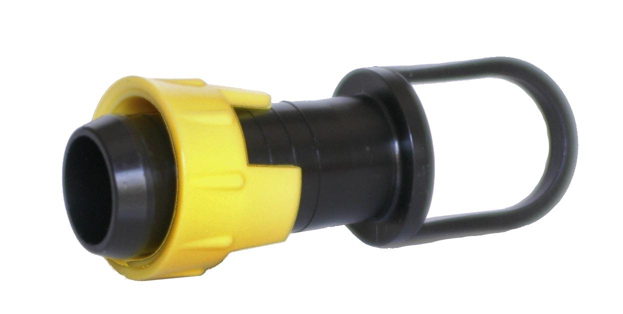 Päätetulppa P1 22m keltainen  putkelle