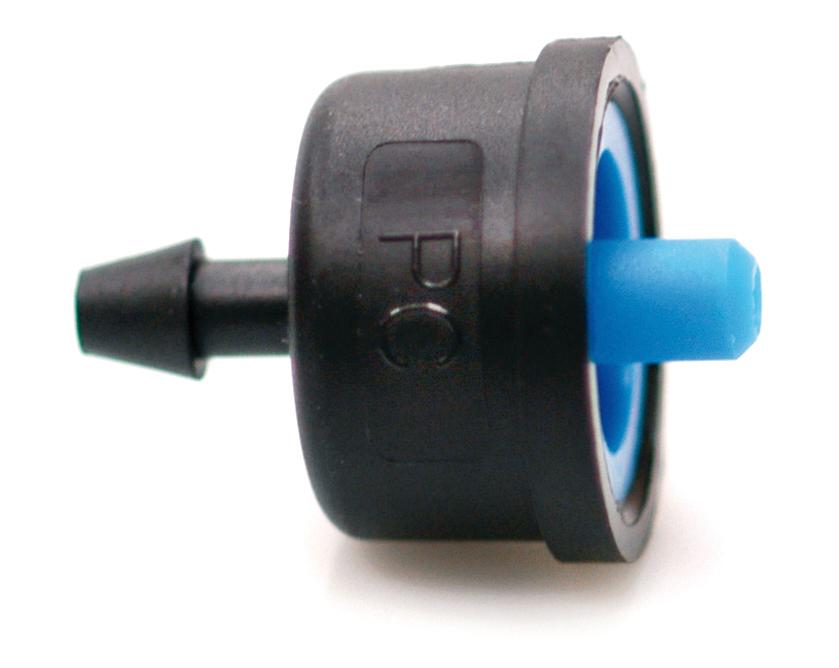 Tippuletkun paineentasaava suutin 2  l/h sininen tippuesto